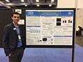Lionel presenting his poster at SfN 2016.