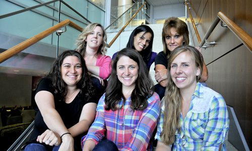 From left to right: (top row) Sarah Sarsfield, Yeka Aponte, Cindy Ambriz, (bottom row) Miriam Bocarsly, Julia Slocomb, Diana Burk