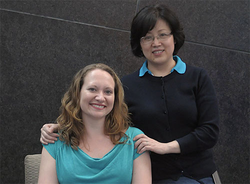 From left to right: Leslie Whitaker, Huiling Wang