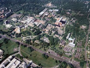 An Aerial view of the NIH main Campus