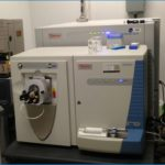 Thermo Scientific LTQ Orbitrap Velos with electrospray source. This instrument can be coupled with HPLC.