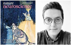 Nature and Neuroscience Journal Cover (Left) and Marco Vennrio, Ph.D. (Right)